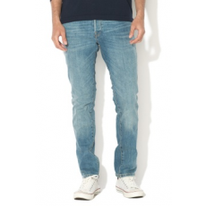 Jack Jones Jack&Jones, Tim Slim Fit farmernadrág, Mosott hatású kék, W30-L32 (12133308-BLUE-DENIM-W30-L32)