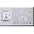 Jacky Auto Betű/szám króm matrica, 29x29mm