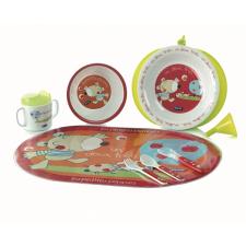 Jané Mikrózható étkészlet 8db-os - Les Pomes tányér és evőeszköz