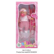 Játékbaba babakocsi kiegészítővel játék babakocsi