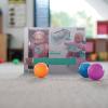 Játékbaba bölcsővel és etetőszékkel