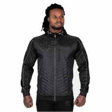 JEFFERSON FRONT PADDED JACKET - BLACK/GRAY (BLACK/GRAY) [S]