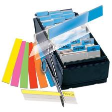 Jelölőcímke, műanyag, 4x12 lap, 12x40 mm, 3L, fehér post-it
