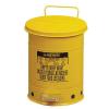 Justrite Fém szemetes kosarak gyúlékony és veszélyes anyagokra, térfogata 79 l, Kapacitás: 79 L, Anyag: fém, Szín: Sárga, Típus: pedálos, Modell: szabadon álló%