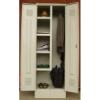 K2453U kétajtós irodai öltözőszekrény 4 fix polc, akasztók