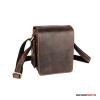 Kalahari Fotós táska bőr KAAMA L-18, valódi bőr oldaltáska, válltáska bivalybőr színben