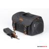 Kalahari Fotós táska SWAVE S-18 gyöngyvászon oldaltáska, válltáska fekete színben