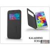 Kalaideng Samsung SM-G900 Galaxy S5 flipes tok - Kalaideng Iceland 2 Series View Cover - black