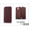 Kalaideng Samsung SM-G900 Galaxy S5 flipes tok - Kalaideng Oscar 2 Series - dark red