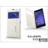 Kalaideng Sony Xperia T3 (D5103) flipes tok - Kalaideng Iceland 2 Series View Cover - white