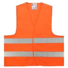 KAM2O Jól láthatósági mellény Orange, 137 g/m2 (Mellény 2 reflex csíkkal)