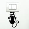 Kapaszkodó macska,villanykapcsoló matrica