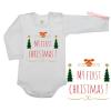 Karácsony gyermek body - My first CHRISTMAS - fehér