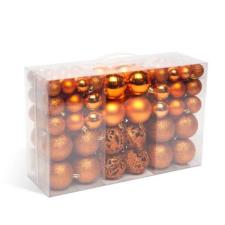 Karácsonyi gömbdísz szett - 100 db / csomag - bronz dekoráció