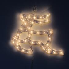 Karácsonyi LED ablakdísz rénszarvas 40 cm meleg fehér karácsonyi dekoráció