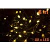 Karácsonyi LED világítás 8m - meleg fehér, 80 dióda