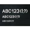 Karakterkészlet információs táblához, fél doboz, 20 mm