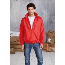 KARIBAN kapucnis széldzseki, piros (Kariban kapucnis széldzseki, piros) férfi kabát, dzseki