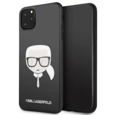 Karl Lagerfeld Etui Karl Lagerfeld KLHCN65DLHBK iPhone 11 Pro Max fekete Ikonikus Glitter Karl's Head telefontok tok és táska