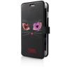Karl Lagerfeld iPhone 6/6S Choupette In Love 2 oldalra nyíló tok, fekete
