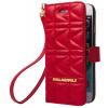 Karl Lagerfeld iPhone 6/6S Kuilted oldalra nyíló tok, piros