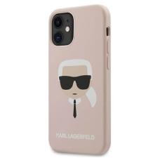"""Karl Lagerfeld KLHCP12SSLKHLP 12 mini iPhone 5.4 """"világos rózsaszín / halvány rózsaszín kemény tok Szilikon Head Karl's telefontok tok és táska"""