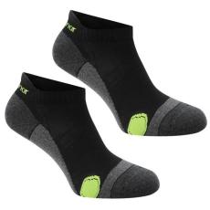 Karrimor férfi futózokni - Karrimor 2 Pack Running Socks Mens Black Fluo