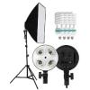 Kathay 60x90cm szoftbox lámpa + 4x85W E-27 izzó + F&V lámpaállvány szett