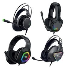 Keep Out Gamer Headset Mikrofonnal KEEP OUT HX-AVENGERKK 7.1 LED RGB Fekete fülhallgató, fejhallgató