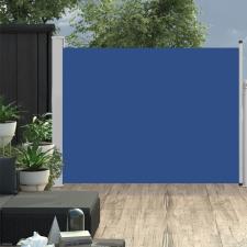 Kék kihúzható oldalsó teraszi napellenző 140 x 500 cm kerti bútor