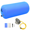 Kék PVC felfújható tornahenger pumpával 120 x 90 cm
