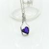 Kék szív üvegben nyaklánc