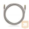 KELine KEL-C6A-P-020 Kategória 6A, 10Giga patch kábel STP, 2 m, LSOH halogénmentés, Szürke