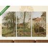 Képáruház.hu Camille Pissarro: Ház Bougival-ban, ősszel(125x70 cm, L01 Többrészes Vászonkép)