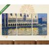 Képáruház.hu Claude Monet: A velencei Dózse palota (1908)(125x60 cm, L02 Többrészes Vászonkép)