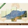 Képáruház.hu Claude Monet: La Corniche, Monaco közelében (1884)(135x70 cm, S01 Többrészes Vászonkép)