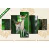 Képáruház.hu Dámszarvas az erdőben(135x70 cm, S01 Többrészes Vászonkép)