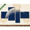 Képáruház.hu Félhold(125x70 cm, S02 Többrészes Vászonkép)