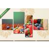 Képáruház.hu Gyümölcskosár(125x70 cm, S02 Többrészes Vászonkép)