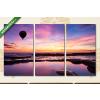 Képáruház.hu Hőlégballon a tenger fölött(125x70 cm, L01 Többrészes Vászonkép)