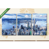 Képáruház.hu Hongkong a Viktória-csúcsról nézve(125x60 cm, L02 Többrészes Vászonkép)