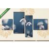 Képáruház.hu Hóvirág(125x70 cm, S02 Többrészes Vászonkép)