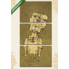 Képáruház.hu Paul Klee: Egy zseni szelleme(125x60 cm, L02 Többrészes Vászonkép)