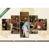 Képáruház.hu Pieter Brueghel id.: Parasztlakodalom(135x70 cm, S01 Többrészes Vászonkép)