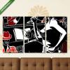 Képáruház.hu Premium Kollekció: Jazz band with double-bass trumpet piano(125x70 cm, L01 Többrészes Vászonkép)