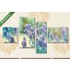Képáruház.hu Premium Kollekció: Lavender illuminated by sunlight(125x70 cm, S02 Többrészes Vászonkép)