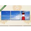 Képáruház.hu Premium Kollekció: Lighthouse. Westkapelle, Netherlands(125x40 cm, B01 Többrészes Vászonkép)