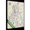 Képáruház.hu Premium Kollekció: Vector old map, Great Britain(20x30 cm, vászonkép)