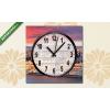 Képáruház.hu Vászonkép óra, Premium Kollekció: A budapesti parlament drámaian napkelte után(25x25 cm, C01)
