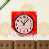 Képáruház.hu Vászonkép óra, Premium Kollekció: Abstract watercolor poppy flower. Vector.(25x25 cm, C01)